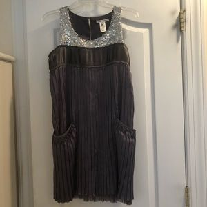 Alice + Olivia Silver Dress w/ Sequins Small